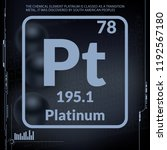 platinum symbol.chemical... | Shutterstock .eps vector #1192567180