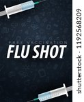 vaccination. get your flu shot. ... | Shutterstock .eps vector #1192568209