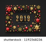 new year 2019 greeting... | Shutterstock .eps vector #1192568236