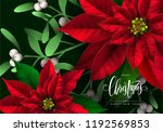 christmas background with... | Shutterstock .eps vector #1192569853