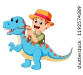 vector illustration of the boy... | Shutterstock .eps vector #1192574389