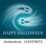 happy halloween swirling sad... | Shutterstock .eps vector #1192578073