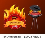 grill party barbecue and... | Shutterstock .eps vector #1192578076