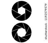 camera shutter icon  logo on... | Shutterstock .eps vector #1192579579