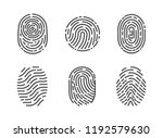 identification fingerprints... | Shutterstock .eps vector #1192579630