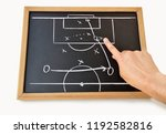 coach indicating with the... | Shutterstock . vector #1192582816