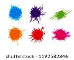 abstract vector splatter pack... | Shutterstock .eps vector #1192582846