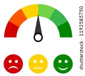 colored scale of emotions.... | Shutterstock .eps vector #1192585750