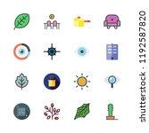 minimal icon set. vector set... | Shutterstock .eps vector #1192587820
