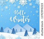 hello winter design background. ... | Shutterstock .eps vector #1192593223