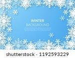 winter design background.... | Shutterstock .eps vector #1192593229
