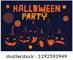 pumpkin   set of lettering ... | Shutterstock .eps vector #1192593949