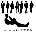 people silhouettes | Shutterstock .eps vector #119259964