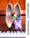 Bride's Shoes On The Piano ...