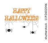 happy halloween banner with... | Shutterstock . vector #1192602046