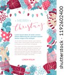 vector christmas background.... | Shutterstock .eps vector #1192602400