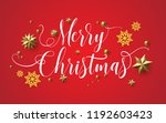merry christmas with beautiful... | Shutterstock .eps vector #1192603423