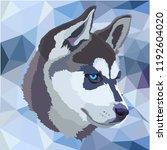 haski dog vector   Shutterstock .eps vector #1192604020