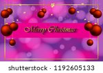 2019 merry christmas background ... | Shutterstock . vector #1192605133