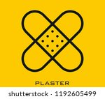 plaster icon signs | Shutterstock .eps vector #1192605499
