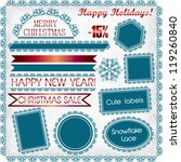 christmas and new year   vector ... | Shutterstock .eps vector #119260840