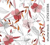 blossom floral seamless pattern.... | Shutterstock .eps vector #1192610386