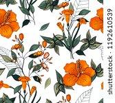 blooming  flowers. realistic... | Shutterstock .eps vector #1192610539