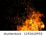 fire sparks particles with... | Shutterstock . vector #1192610953