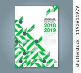 abstract minimal geometric... | Shutterstock .eps vector #1192611979