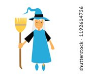 halloween witch vector art clip ... | Shutterstock .eps vector #1192614736
