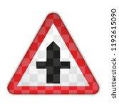 traffic sign. crossroads.... | Shutterstock .eps vector #1192615090
