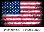 usa flag.american grunge flag. | Shutterstock .eps vector #1192616020