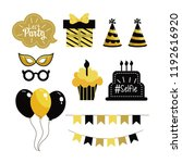 set happy birthday party... | Shutterstock .eps vector #1192616920
