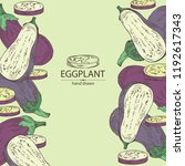 background with eggplant  full... | Shutterstock .eps vector #1192617343