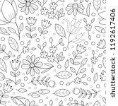 flower seamless outline pattern.... | Shutterstock .eps vector #1192617406