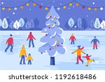 vector illustration in flat... | Shutterstock .eps vector #1192618486