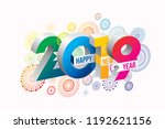 happy new year 2019 background. ... | Shutterstock .eps vector #1192621156