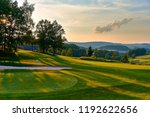 sunset and golf course with...   Shutterstock . vector #1192622656