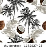 beautiful botanical vector... | Shutterstock .eps vector #1192627423