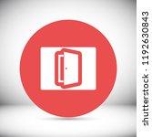 door  vector icon | Shutterstock .eps vector #1192630843