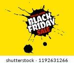 black friday sale grunge poster.... | Shutterstock .eps vector #1192631266
