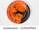 halloween holiday plate... | Shutterstock . vector #1192639963