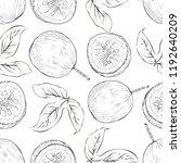 pasision fruit seamless pattern ... | Shutterstock .eps vector #1192640209