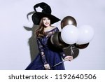 a beautiful lady in a costume... | Shutterstock . vector #1192640506