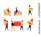moving people wear things....   Shutterstock .eps vector #1192640839