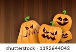 halloween horizontal web banner ...   Shutterstock .eps vector #1192644043