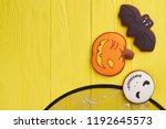 assorted hallowen cookies on... | Shutterstock . vector #1192645573