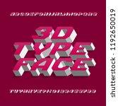 3d alphabet font. three... | Shutterstock .eps vector #1192650019