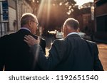 rear view of two senior... | Shutterstock . vector #1192651540