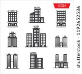 hotel icon set isolated on...   Shutterstock .eps vector #1192652536